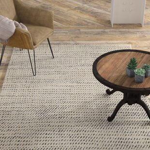 Affordable Alcott Natural Hand Loomed White Area Rug By Williston Forge