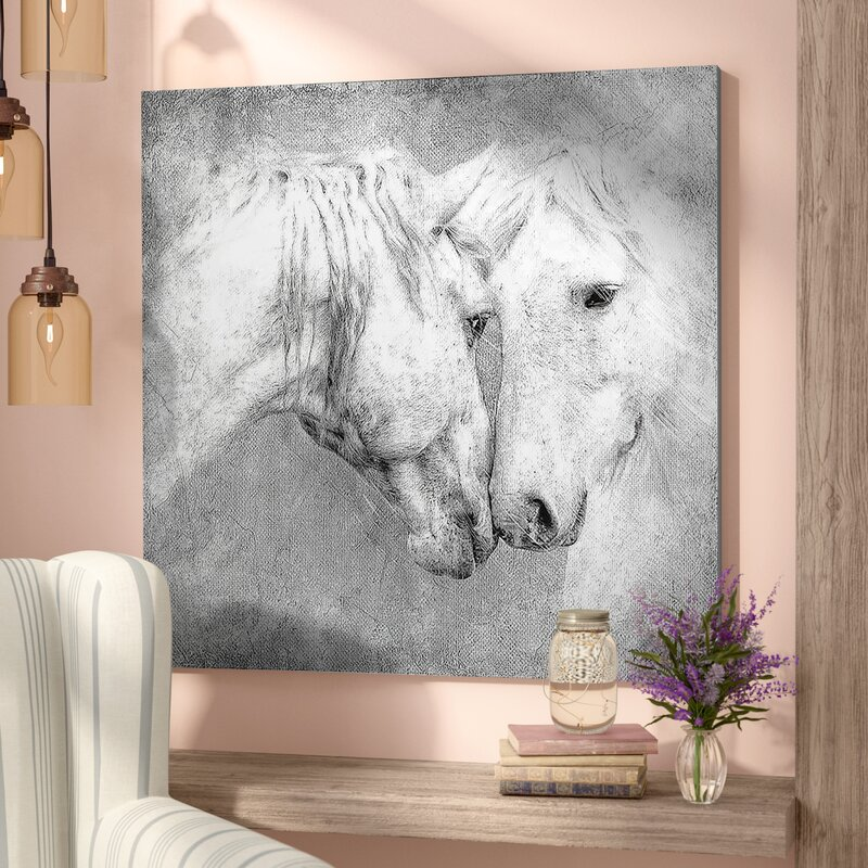 Laurel Foundry Modern Farmhouse \'Meeting Horses\' Framed Painting ...