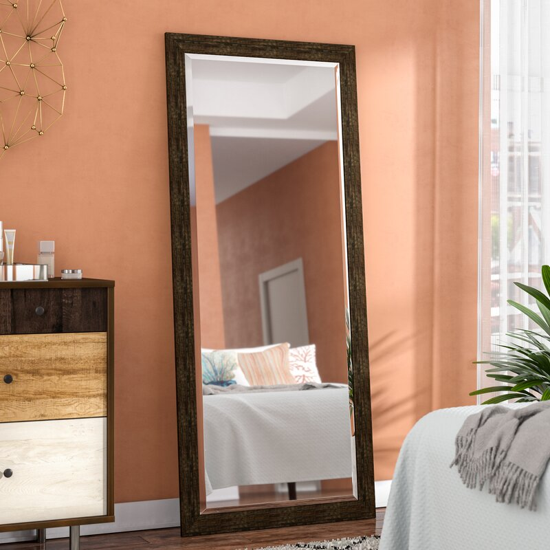 Trent Austin Design Tarpon Brushed Classic Extra Tall Floor Mirror ...