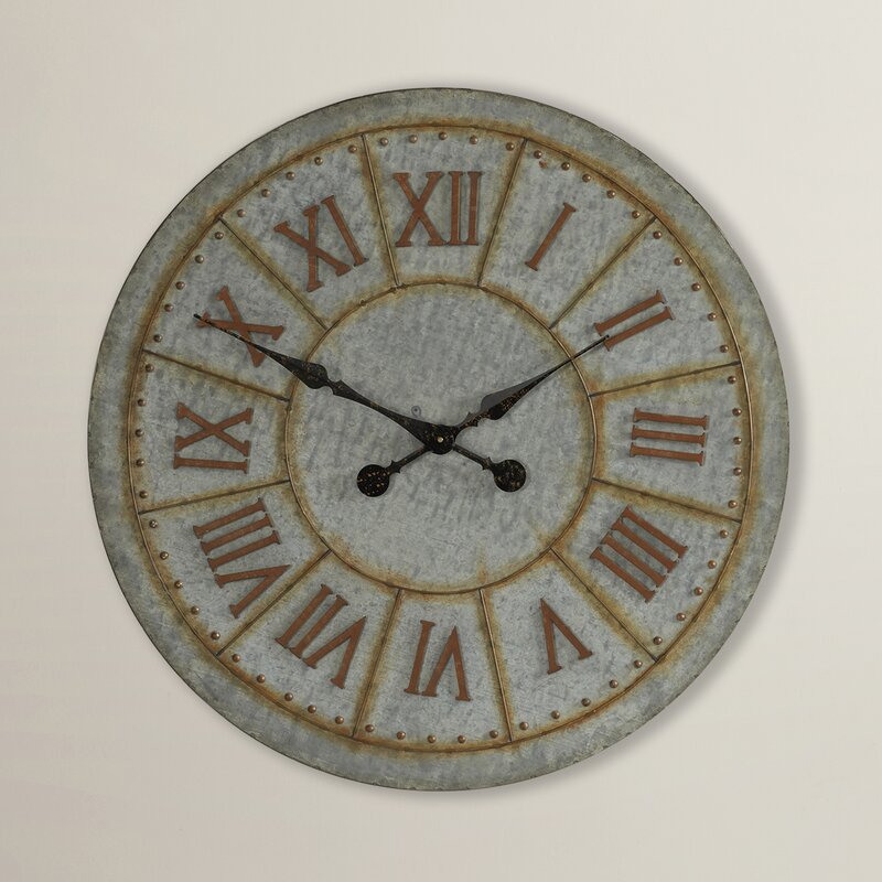 Trent Austin Design Oversized 32 Quot Galvanized Wall Clock