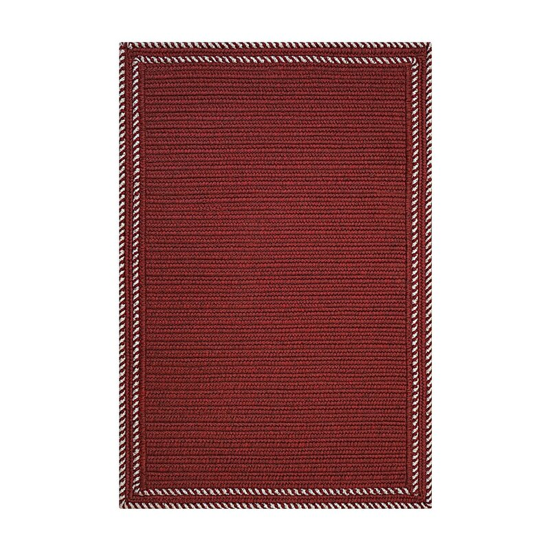 """Kristofer Horizon Braids Hand-Braided Red Indoor/Outdoor Area Rug Rug Size: Rectangle 2'3"""" x 3'0.75"""" -  August Grove, W000936807"""