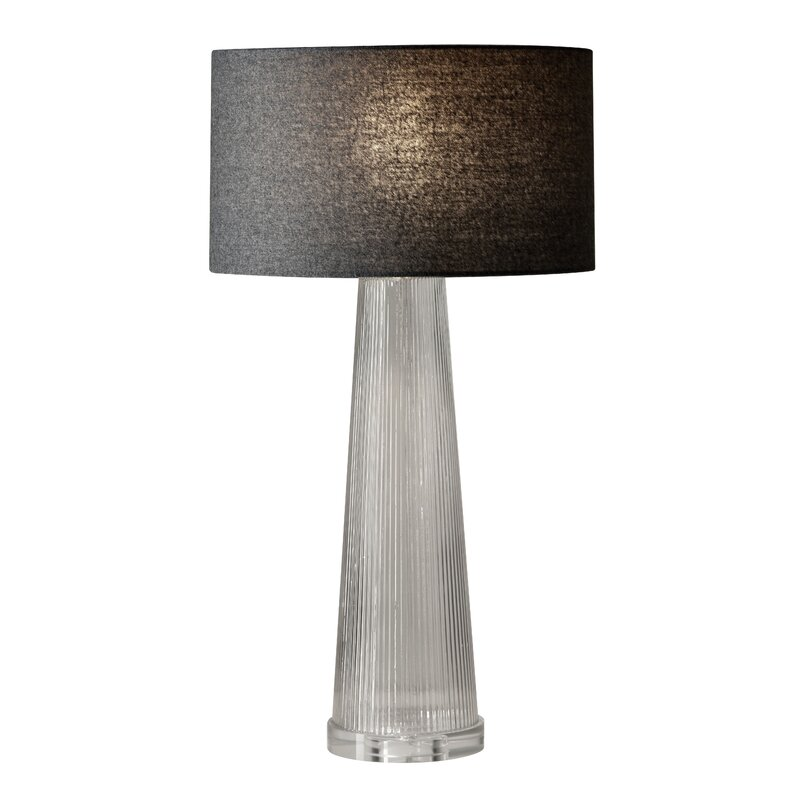 Latitude Run Foxburg 25 5 Dark Grey Table Lamp Wayfair