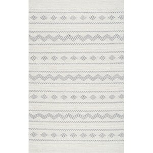 Cusack Hand-Woven Cotton Ivory Area Rug