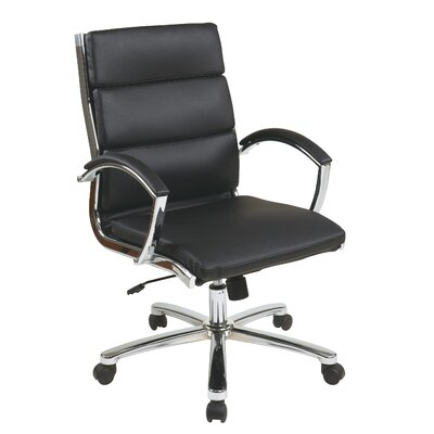 Brayden Studio Dunarragan Conference Chair Upholstery Color: Black
