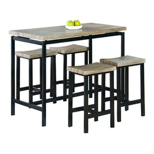 Bar tables sets modern contemporary designs allmodern bourges 5 piece pub table set watchthetrailerfo