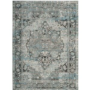 Norwood Oriental Blue/Gray Area Rug