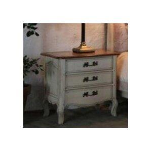 Nachttisch Vintage mit 3 Schubladen von Möbelkultura