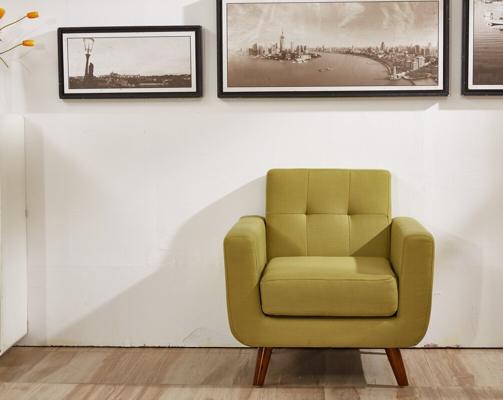 George Oliver Linen Upholstered Armchair Amp Reviews