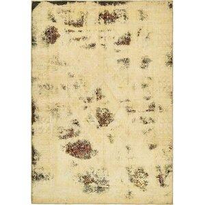 Sela Vintage Persian Hand Woven Silk Ivory Area Rug