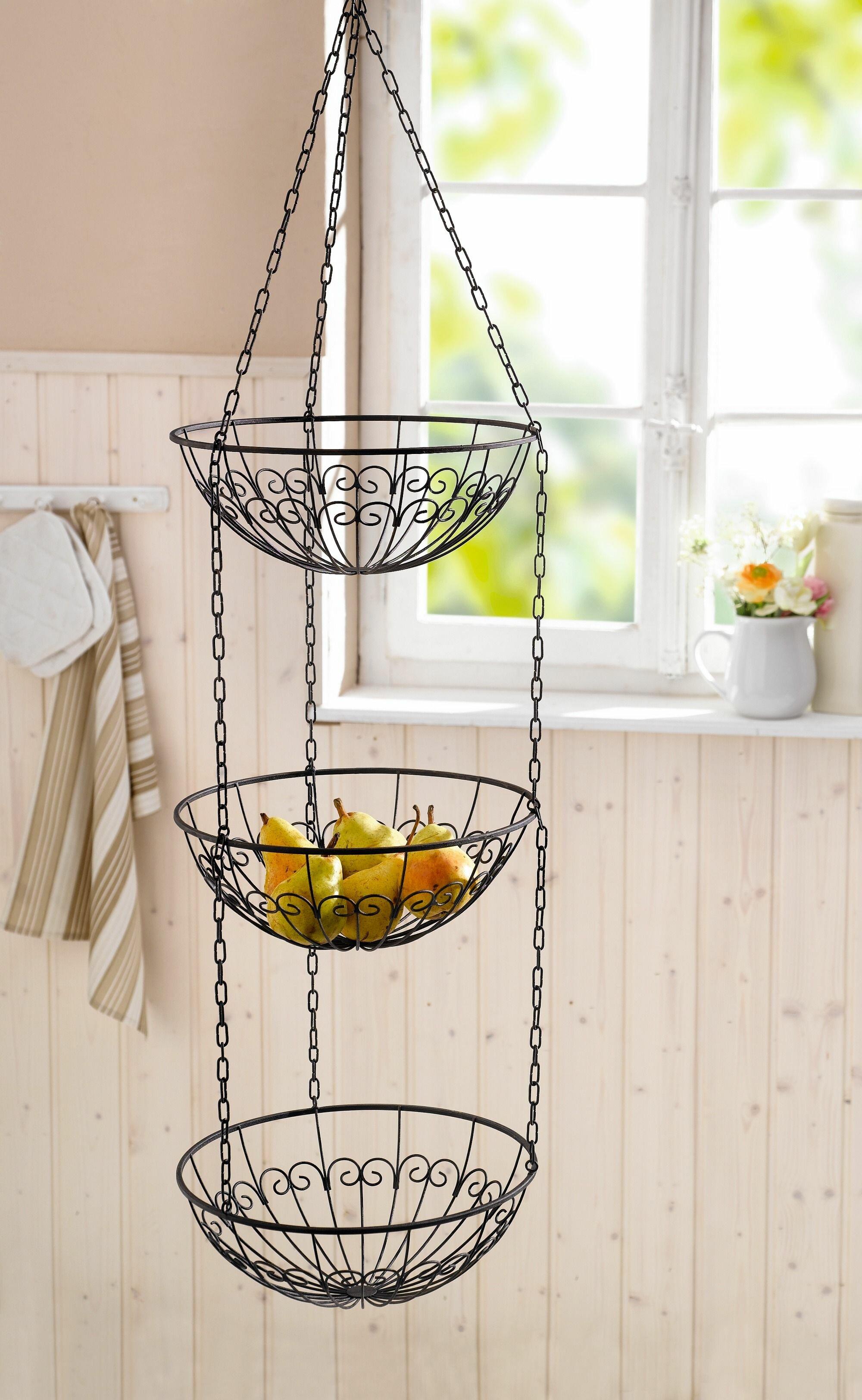 Wire Kitchen 230 fl oz Hanging Fruit Basket