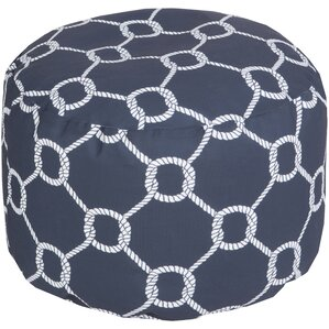 Canadice Rope Outdoor Pouf Ottoman by Longshore Tides