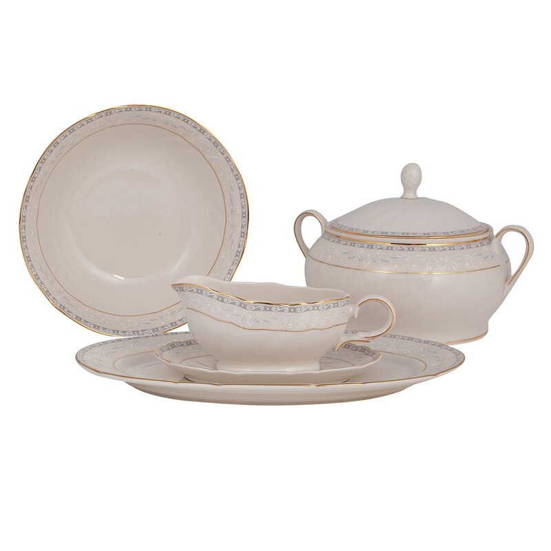 Spring Valley Ivory China Special Serving 5 Piece Dinnerware Set  sc 1 st  Wayfair & Shinepukur Ceramics USA Inc. Spring Valley Ivory China Special ...