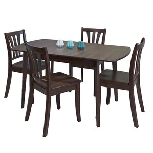 Liggett 5 Piece Extendable Dining Set by Three P..