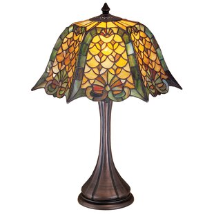 Gothic lamps wayfair gothic nouveau duffner and kimberly shell and diamond 21 table lamp aloadofball Image collections