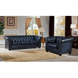 Amax Nebraska 2 Piece Leather Living Room Set | Wayfair