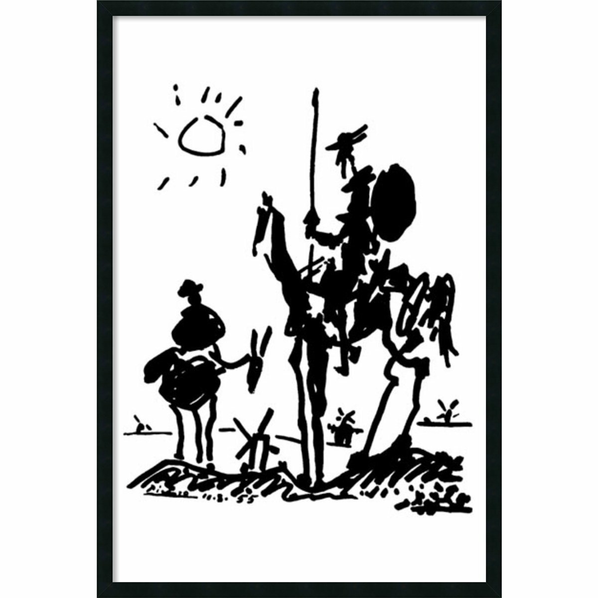 Red Barrel Studio Don Quixote By Pablo Picasso Framed Painting Print Reviews
