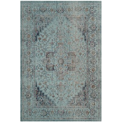 Bungalow Rose Villanova Power Loomed Light Blue Area Rug Rug Size: Rectangle 9' x 12'