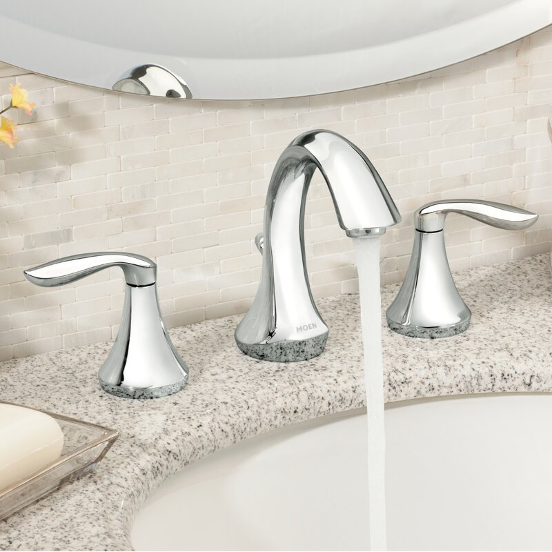 T6420bn Orb Moen Eva Widespread Bathroom Faucet With Drain Assembly