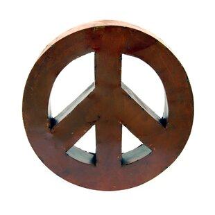 Metal Peace Sign Wall Art | Wayfair