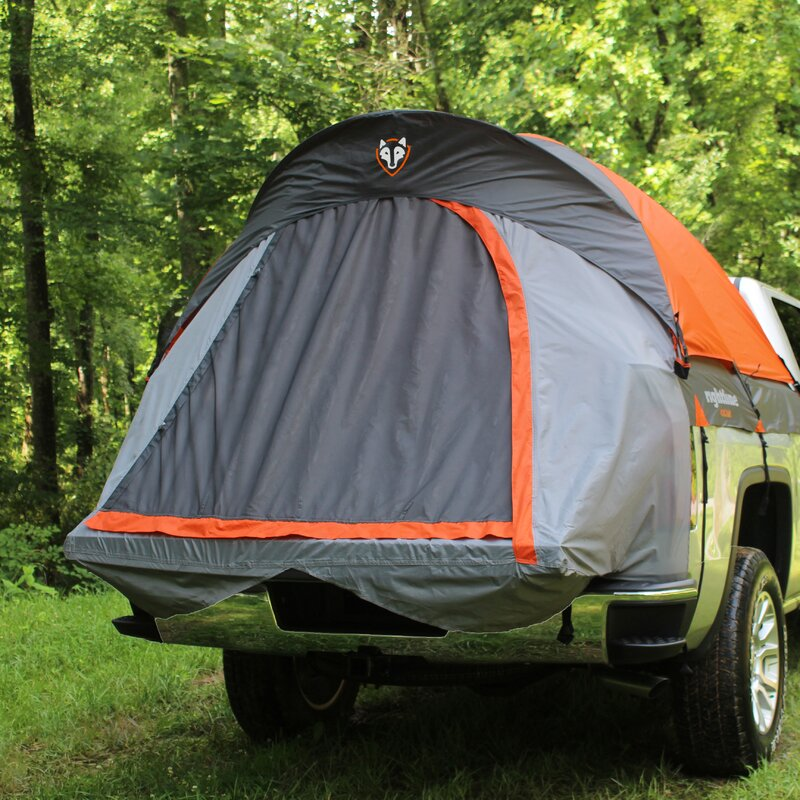Mid Size Long Bed Truck Two Person Tent & Rightline Gear Mid Size Long Bed Truck Two Person Tent u0026 Reviews ...