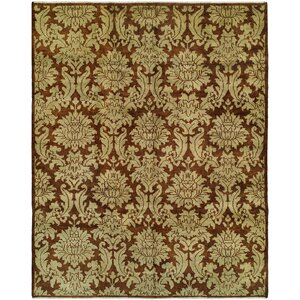 Chand Hand-Knotted Brown Area Rug