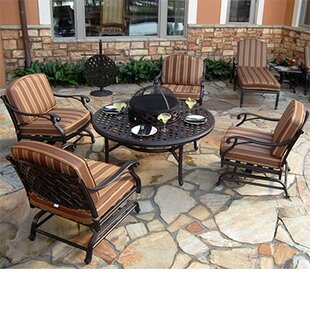 Laneon Fire Pit Set Seating Group With Cushions