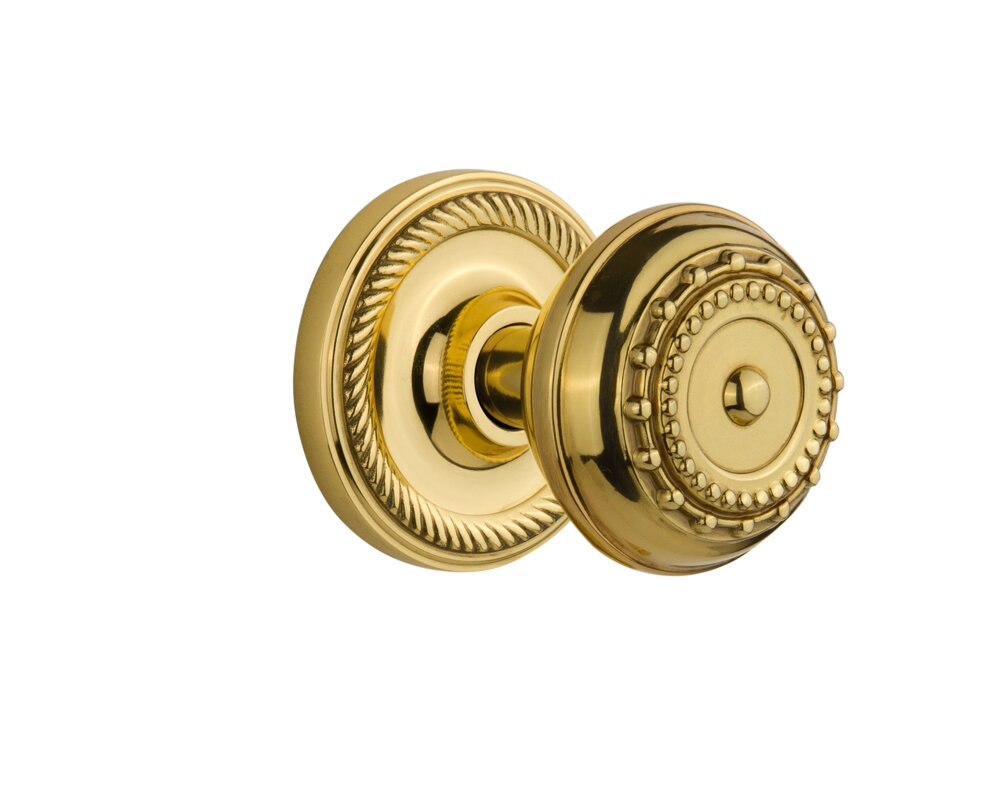Meadows Privacy Door Knob With Rope Rosette