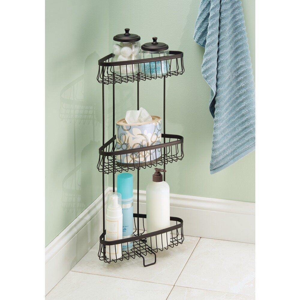 Charlton Home Micheal Steel Free Standing Shower Caddy Reviews Wayfair