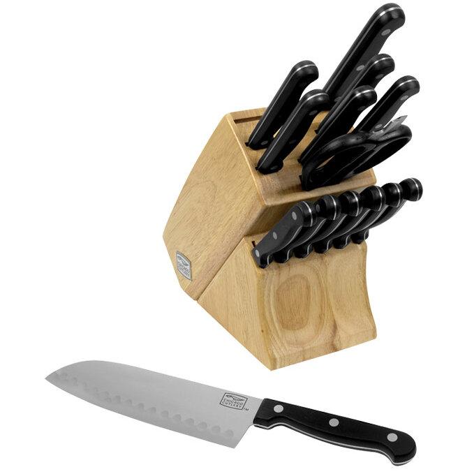 Chicago Cutlery Essentials 15 Piece Block Set Reviews Wayfair