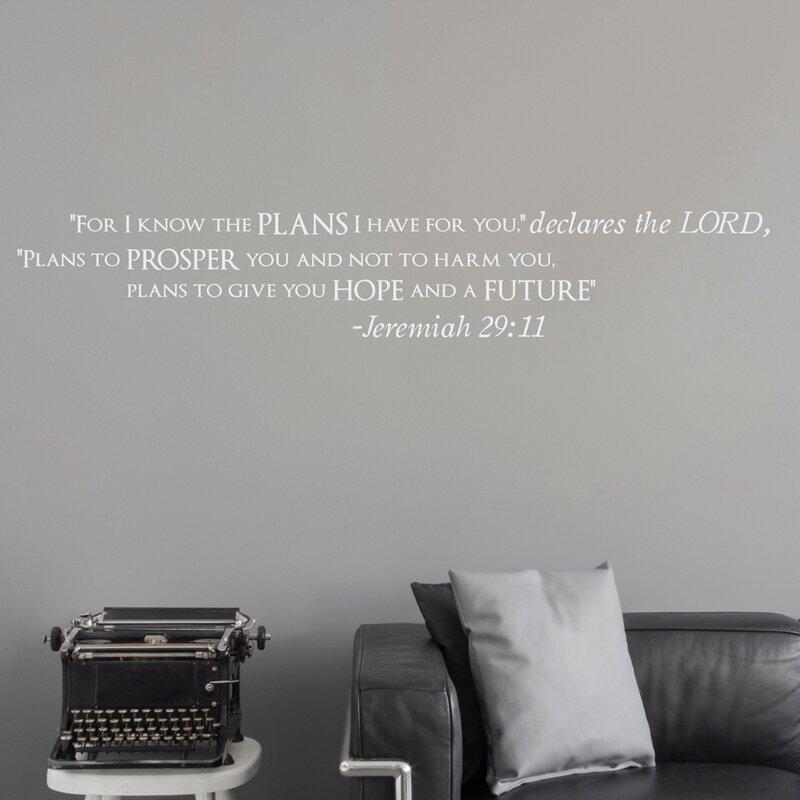 Jeremiah 29:11 Wall Decal