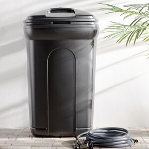 rubbermaid roughneck 45 gal black wheeled trash can with 14 - Rubbermaid Garbage Cans