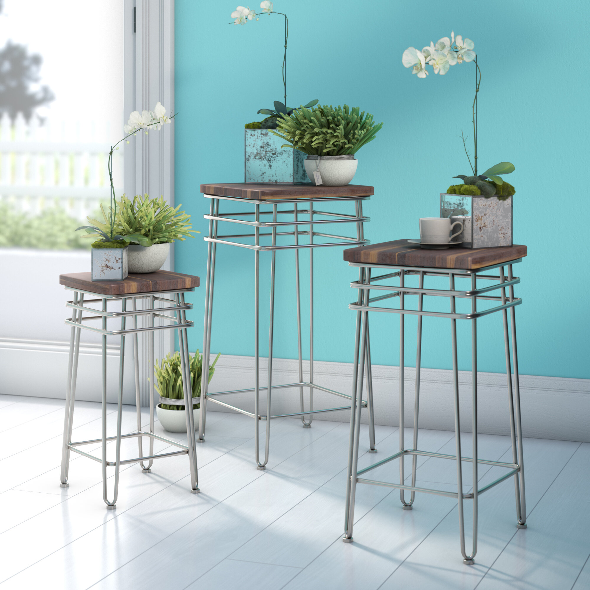 Zipcode Design Centerville 3 Piece Plant Stand Set & Reviews | Wayfair