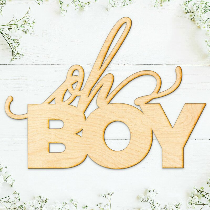 Ebern Designs Oh Boy Wall Décor | Wayfair