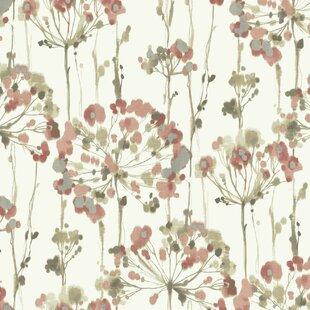 Vintage Pink Floral Wallpaper Wayfair