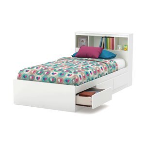 reevo twin mateu0027s u0026 bed with bookcase headboard
