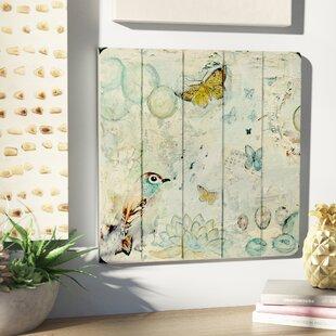 U0027Butterfly Bird And Musicu0027 Wall Art