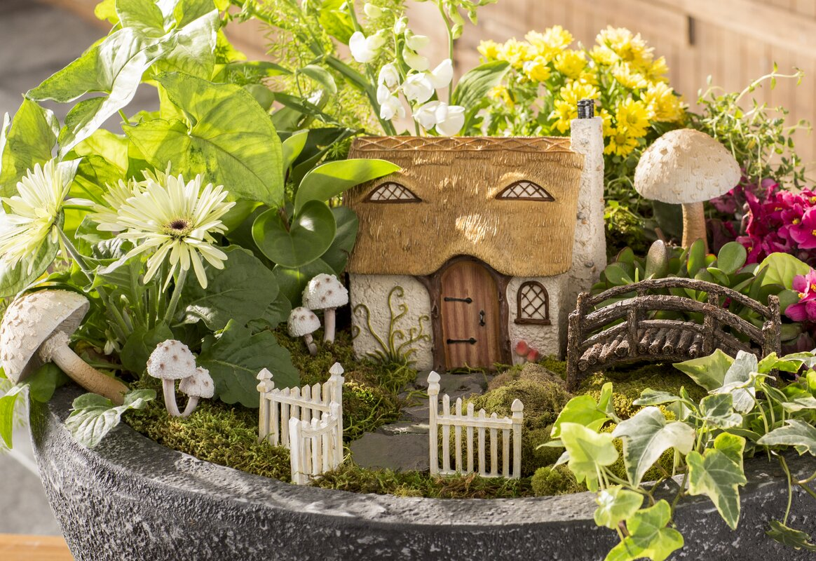 Hi-Line Gift Ltd. Fairy Garden Cottage Statue & Reviews