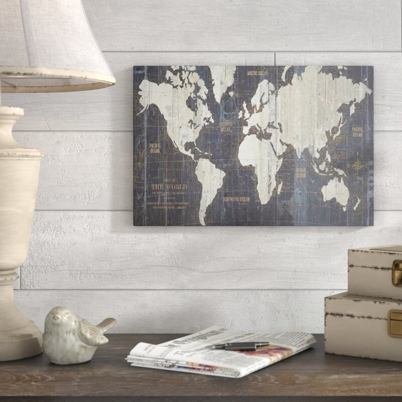 Mercury row old world map graphic art print on wrapped canvas old world map graphic art print on wrapped canvas gumiabroncs Images