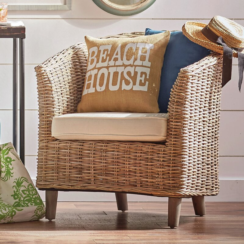 Omni Wicker Accent Chair Amp Reviews Joss Amp Main