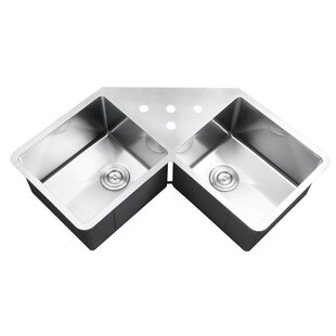 Corner Kitchen Sinks You'll | Wayfair on double corner sinks for kitchens, black corner sinks for kitchens, elkay corner sinks for kitchens, kohler corner sinks for kitchens,