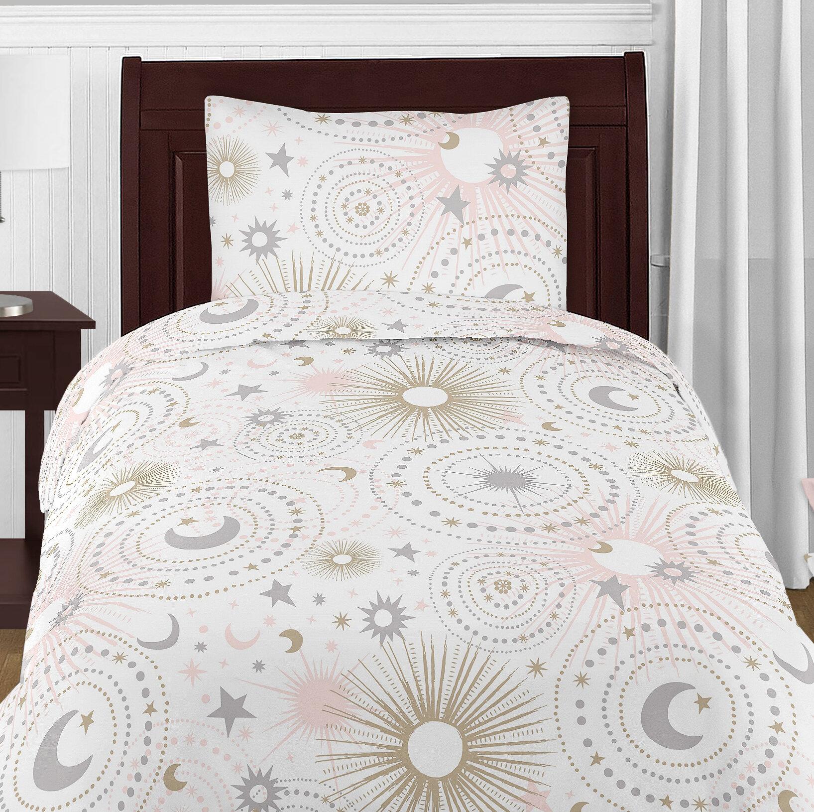 and crib blush celestial comforter baby grey themed set animal piece bedding