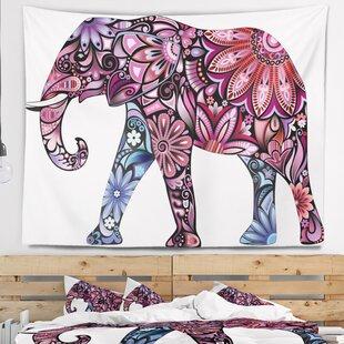 c6a1cb782f Animal Purple Cheerful Elephant Tapestry