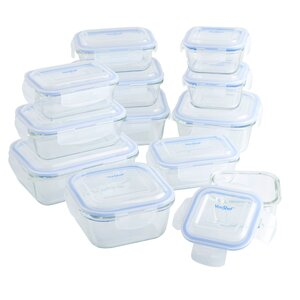 Glass 12 Container Food Storage Set