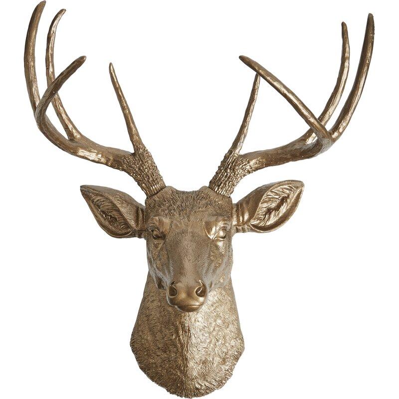 White Faux Taxidermy The Frankfurt Deer Head Wall D 233 Cor