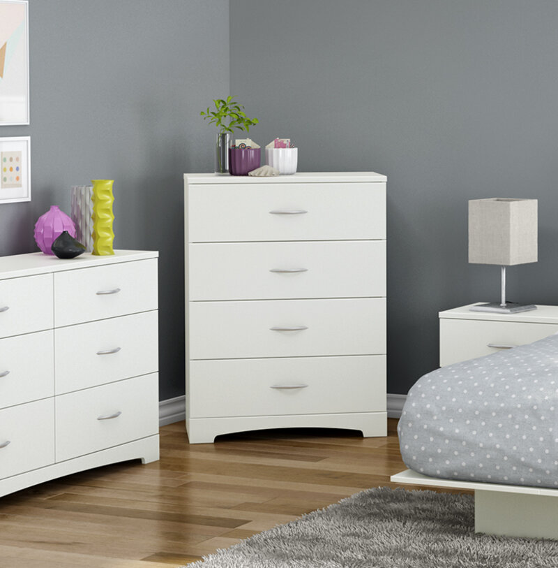 dresser contemporary bay collection triple dark chocolate step back ssf one shore furniture south drawer