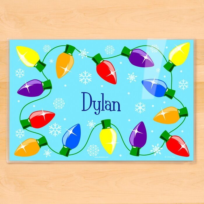 olive kids christmas lights personalized placemat wayfair ca