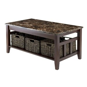 marble/granite-top coffee tables | wayfair