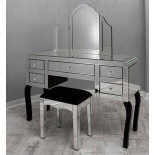 Smoked Glass Dressing Table | Wayfair.co.uk