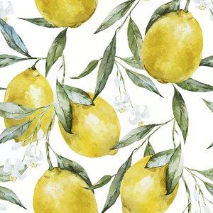 Life of Lemons Removable 5' x 20 Floral Wallpaper