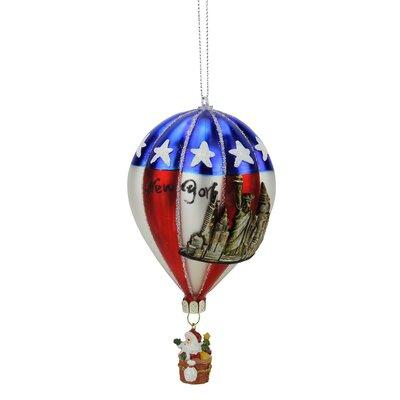 new york glass hot air balloon christmas ornament
